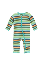 Kickee Pants Kickee Pants  Cancun Glass Stripe Zipper Coverall