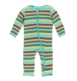 Kickee Pants Kickee Pants| Cancun Glass Stripe Zipper Coverall