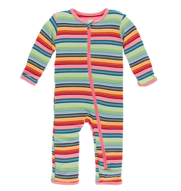 Kickee Pants Kickee Pants| Cancun Strawberry Stripe Zipper Coverall