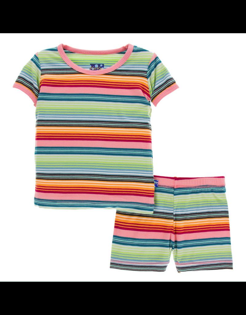072f51b99 Kickee Pants| Cancun Strawberry Stripe Pajama Set with Shorts ...