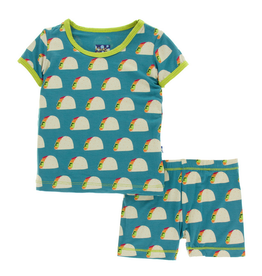 Kickee Pants Kickee Pants| Seagrass Tacos Pajama Set with Shorts