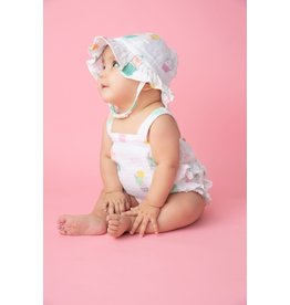 Angel Dear Angel Dear | Muslin Sprinkles Ruffle Sunsuit