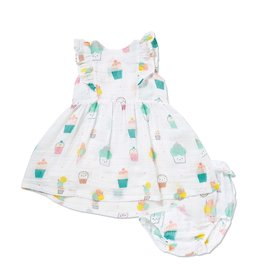 Angel Dear Angel Dear | Muslin Sprinkles Dress & Bloomer Set