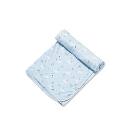 Angel Dear Angel Dear | Blue Bunnies Bamboo Jersey Swaddle