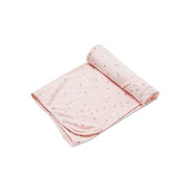 Angel Dear Angel Dear | Pink Bunnies Bamboo Jersey Swaddle
