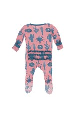 Kickee Pants Kickee Pants| Strawberry Cactus Zipper Footie