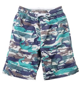Wes & Willy | Gator Camo Swim Trunks