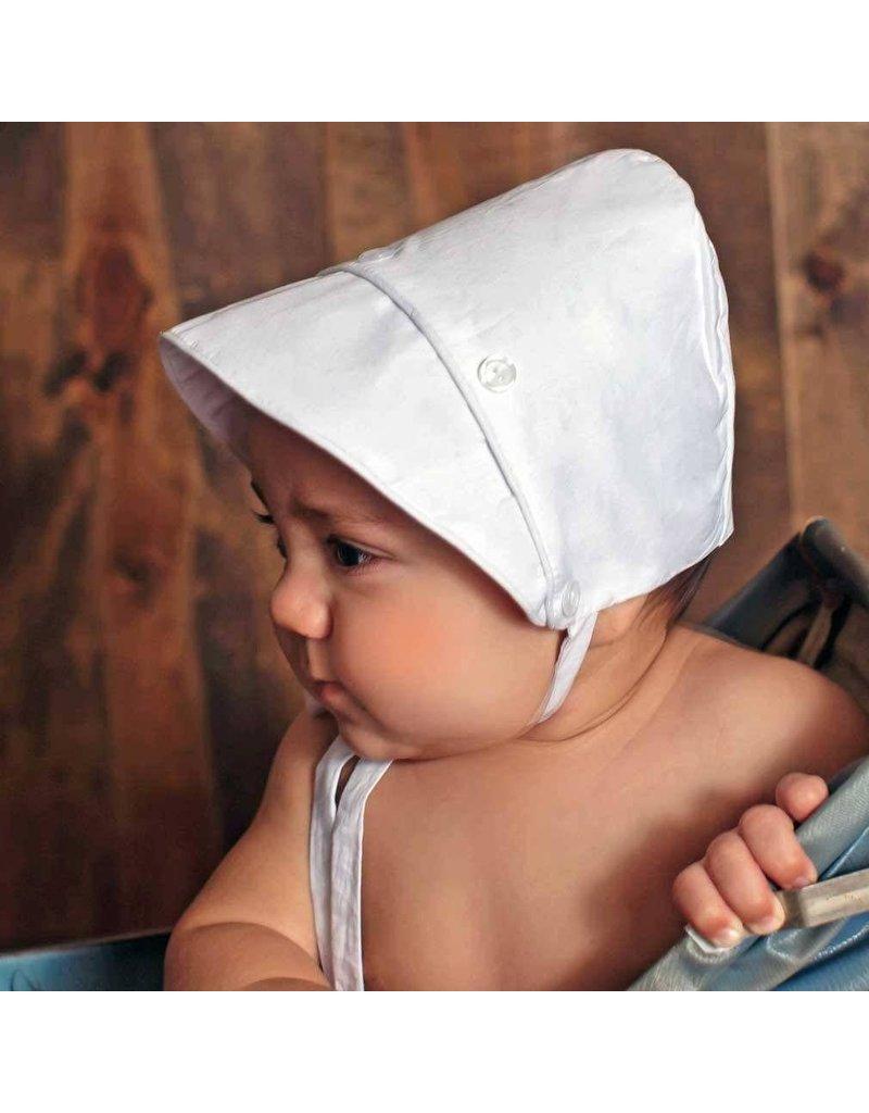 White Button Detail Bonnet