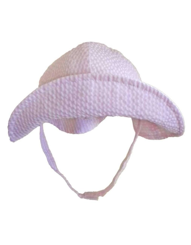 Huggalugs Pink Seersucker Stripe Sunhat