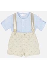 Mayoral Mayoral | Printed Suspender Shorts Outfit