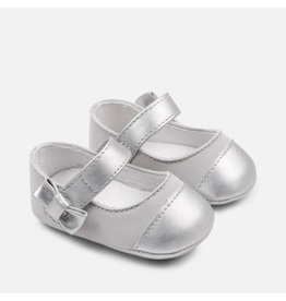 Mayoral Mayoral | Metallic Toe Crib Shoe