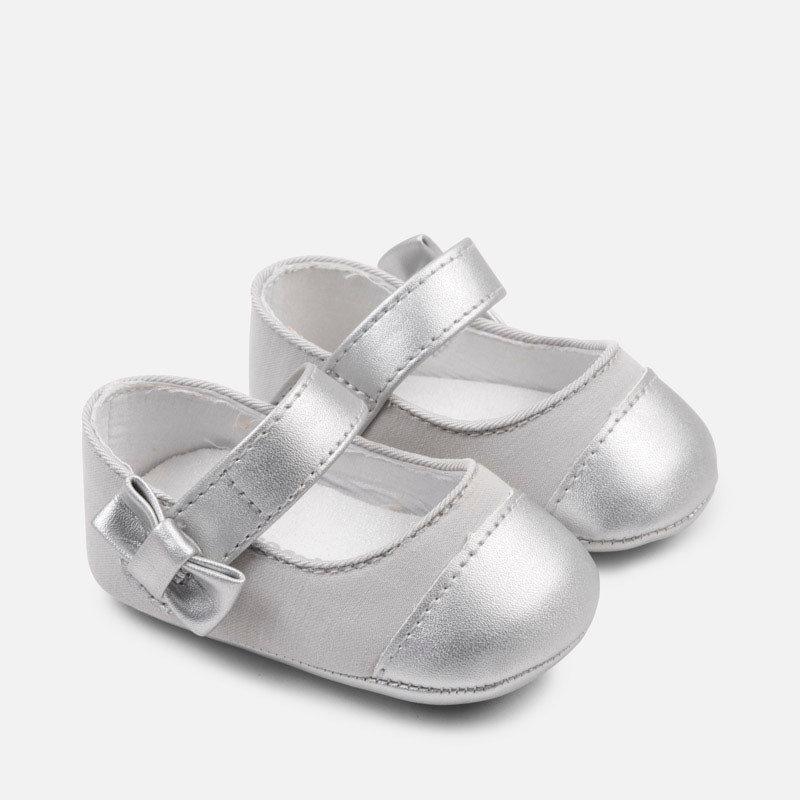 Mayoral Mayoral | Metallic Toe Crib Shoe