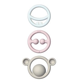 Kid O Nigi, Nagi, Nogi Pastel Teething Rings Set