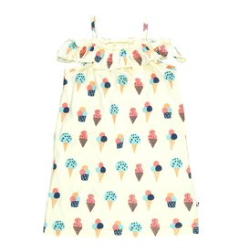 Baby Soy | Ruffle Shoulder Dress in Ice Cream