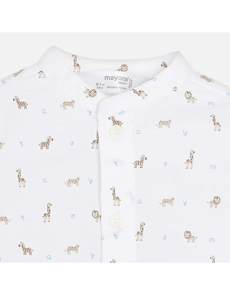 Mayoral Mayoral | Animal Print Baby Shirt