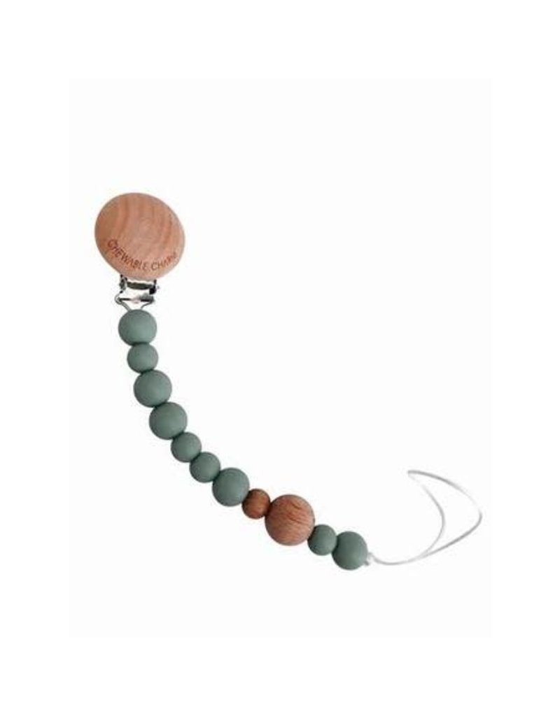 Beaded Pacifier Clip | Succulent Green