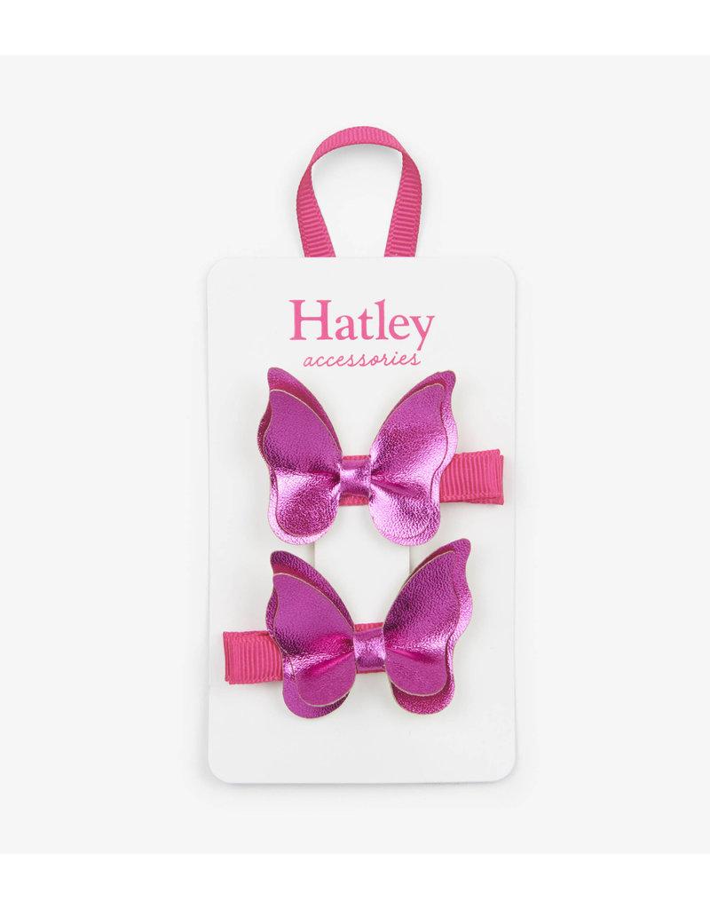 Hatley   Fuchsia Butterflies Hair Clips