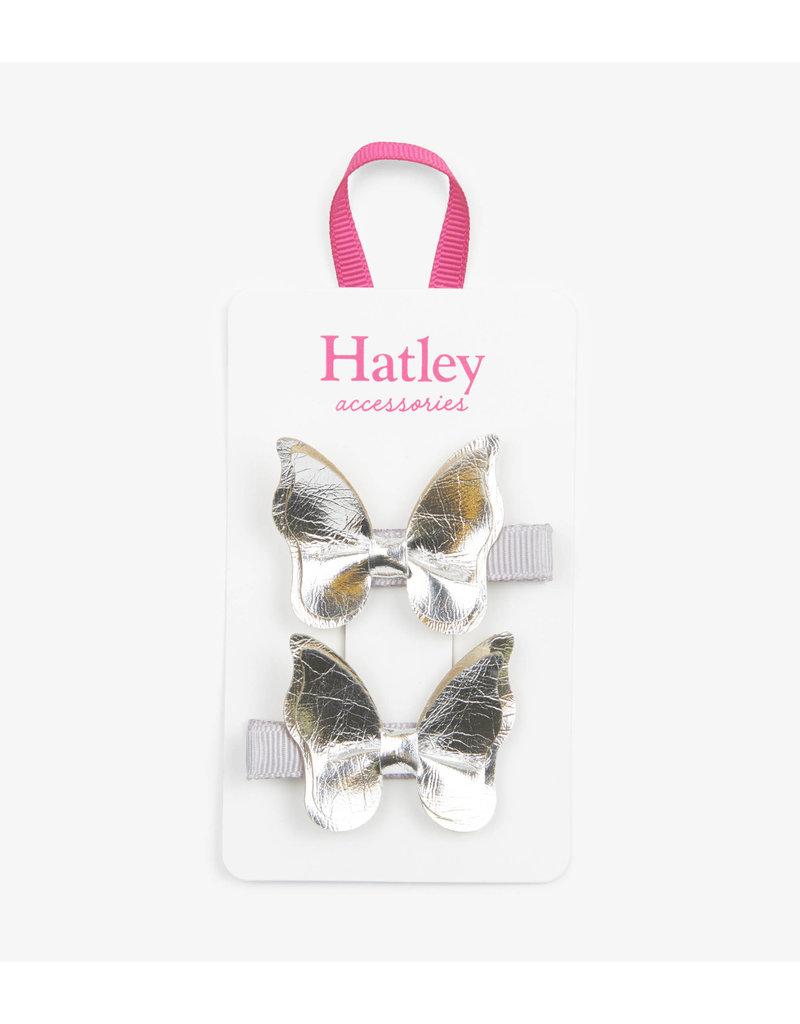 Hatley |Silver Glimmer Butterflies Hair Clips