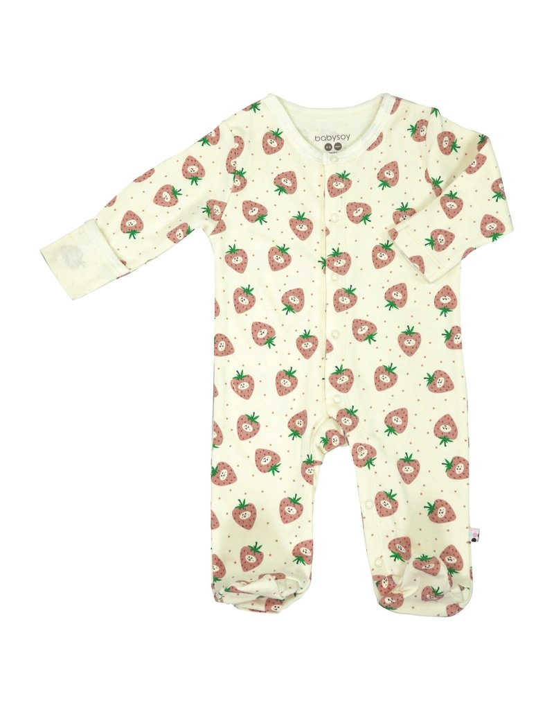Baby Soy | Strawberry Snap Footie