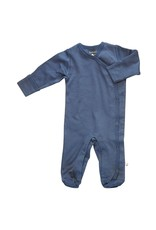 Baby Soy | Solid Snap Footie in Indigo