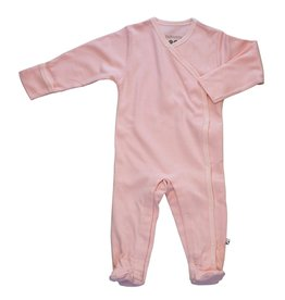 Baby Soy | Solid Snap Footie in Peony