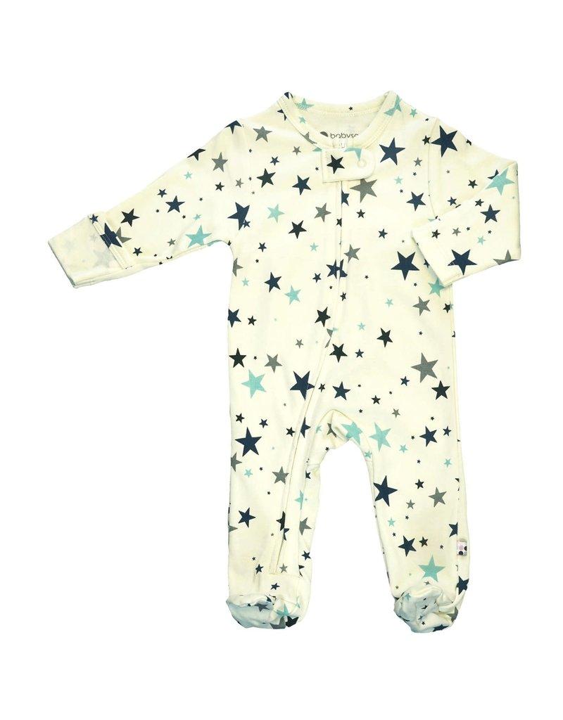 Baby Soy | Stars Zipper Footie