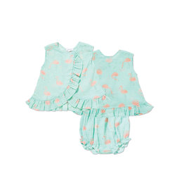 Angel Dear Angel Dear | Muslin Flamingos Print Top & Bloomer Set