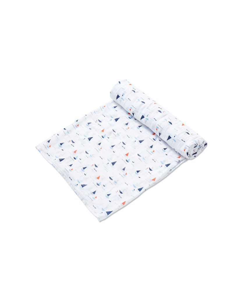 Angel Dear Angel Dear | Sail Boats Muslin Swaddle