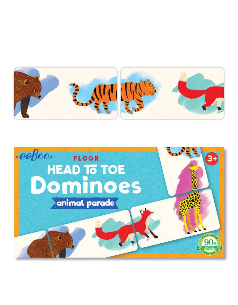 eeBoo eeboo   Head to Toe Animal Parade Dominoes