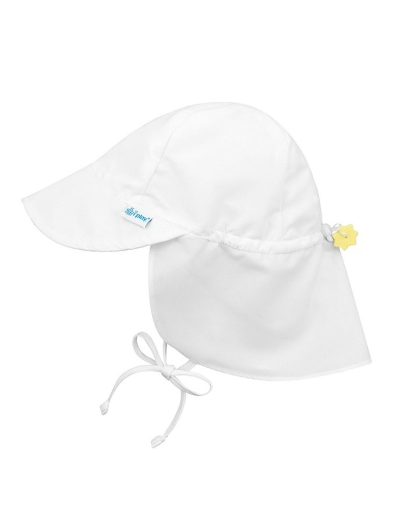 I Play i Play | Neck Flap Sunhat in White