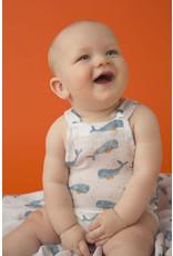 Angel Dear Angel Dear   Baby Whale Muslin Sunsuit