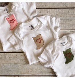 Elms & Cedars | Hand Embroidered Hoosier Love Bodysuit