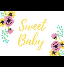 Sweet Baby Card Yellow