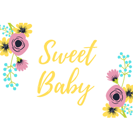 Sweet Baby Greeting Card Yellow
