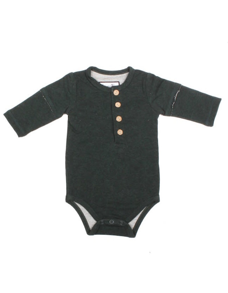 Young & Free | Forest Henley Bodysuit