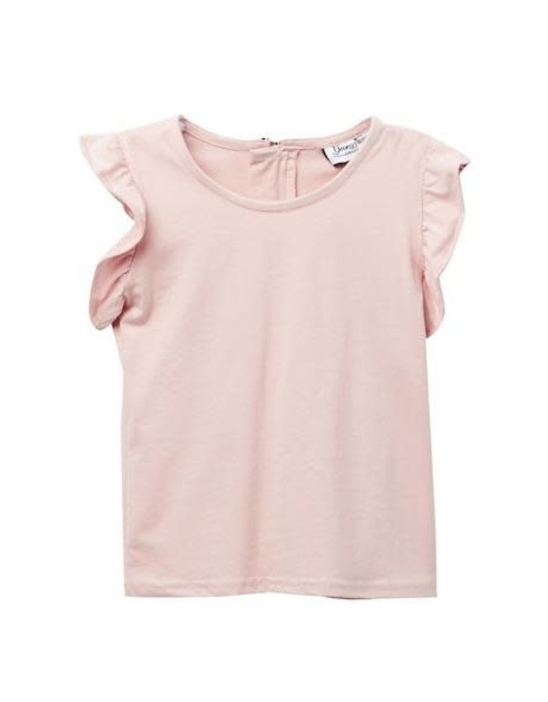 Young & Free   Blush Flutter Tee