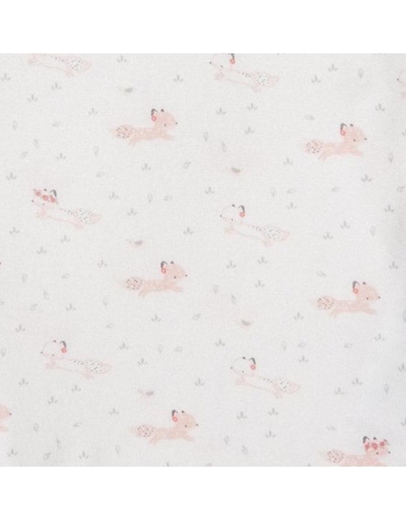 Angel Dear Angel Dear | Pink Fox Zipper Footie
