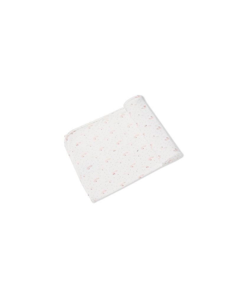Angel Dear Angel Dear | Pink Fox Bamboo Jersey Swaddle