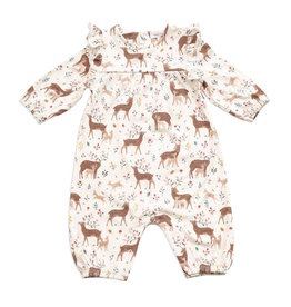 Angel Dear Angel Dear | Little Deer Ruffle Sleeve Romper
