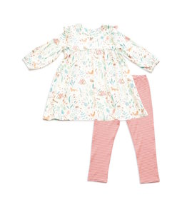 Angel Dear Angel Dear | Woodland Floral Dress and Legging Set