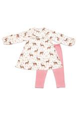 Angel Dear Angel Dear | Little Deer Dress and Legging Set