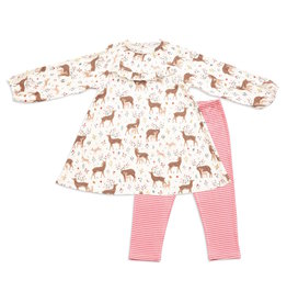 Angel Dear Angel Dear | Little Deer Dress and Legging Set