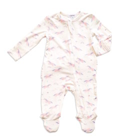 Angel Dear Angel Dear | Cosmic Unicorn Ruffle Zipper Footie