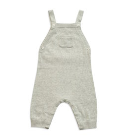 Angel Dear Angel Dear | Knit Overall in Light Grey
