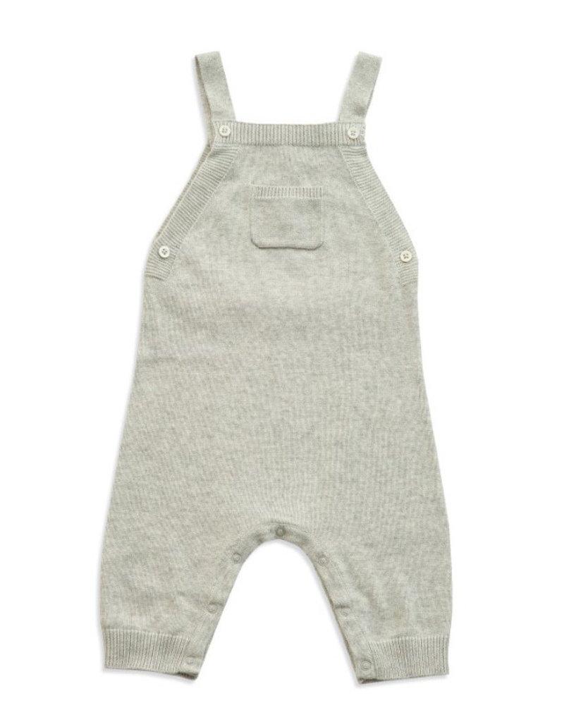 Angel Dear Angel Dear | Knit Overall in Light Grey