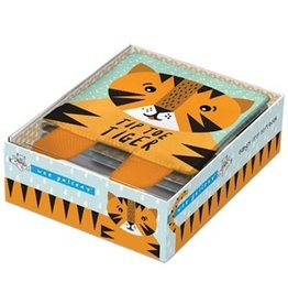 Quarto Tip Toe Tiger Cloth Book