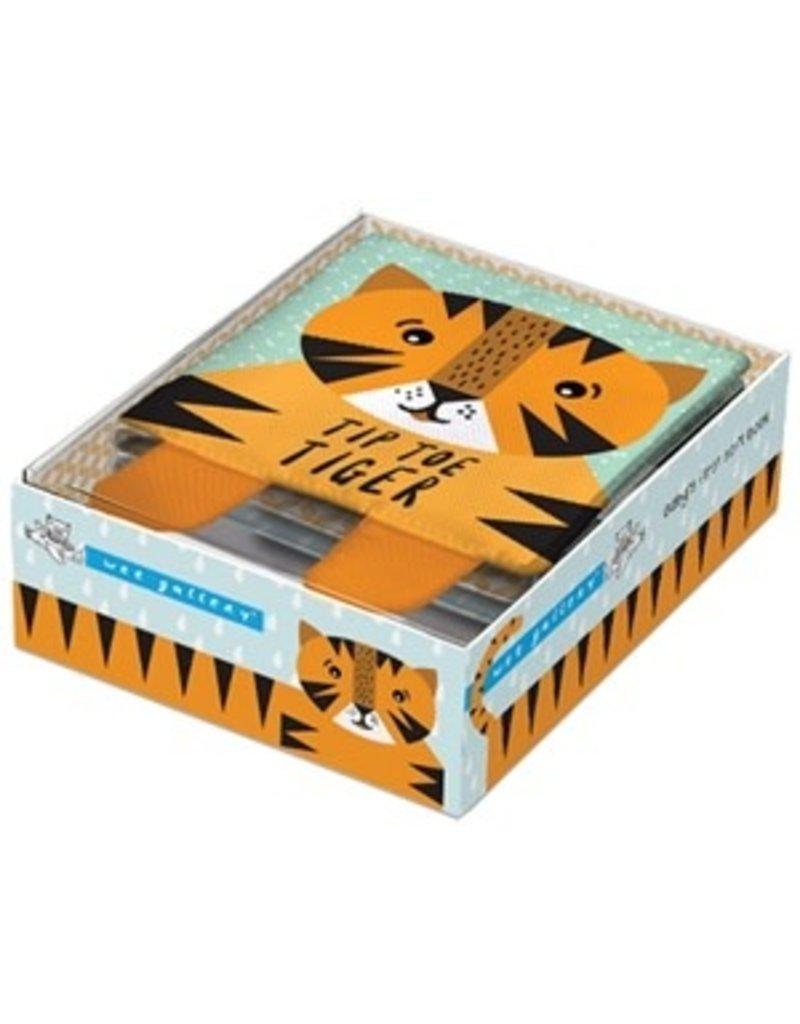 Quarto Tip Toe Tiger Cloth Book