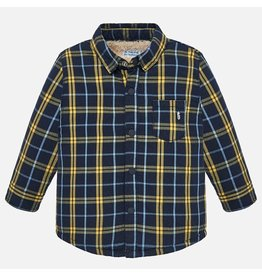 Mayoral Mayoral   Faux Fur Lined Flannel Shirt