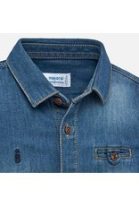 Mayoral Mayoral | Distressed Denim Button Down