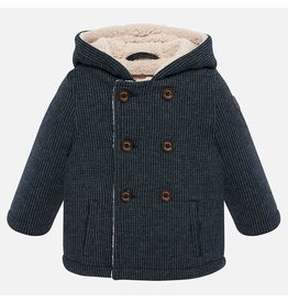 Mayoral Mayoral | Fleece Lined Knit Peacoat